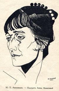 Анна Ахматова Портрет Юрия Анненкова