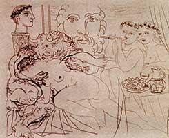 Минотавр, гравюра Пикассо 1933 года, подделанная Мургелло