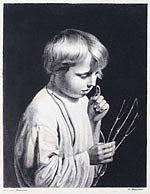 Венецианов Мальчик с веточкой