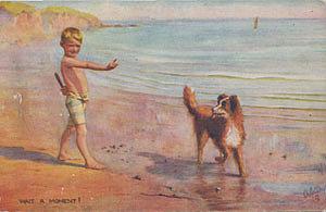 Почтовая открытка WAIT A MOMENT