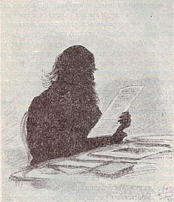 Д. А. Ровинский в последний год своей жизни. Силуэт Е. Бем.