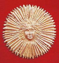 Сияющее солнце - деталь запонов